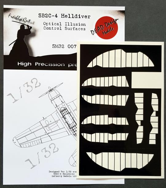 1/32 SB2C-4 Helldiver Mask for Control Surfaces