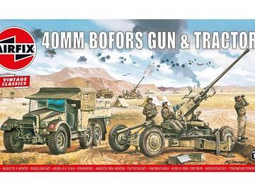 Bofors 40mm Gun & Tractor,Vintage Classi
