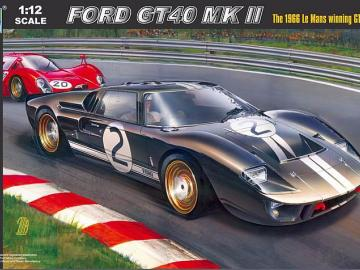 1:12 Ford GT40 Mk II 1966 Le Mans winning GT coupe