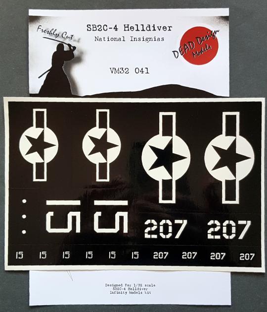 1/32 SB2C-4 Helldiver National Insignias masks
